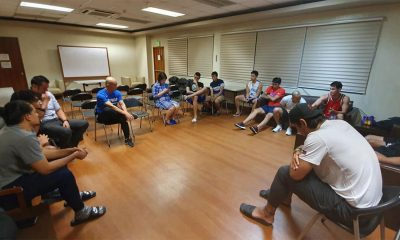 Tiebreaker Times Yeng Guiao gathers Gilas Men's troops before World Cup grind begins 2019 FIBA World Cup Qualifiers Basketball Gilas Pilipinas News  Yeng Guiao Troy Rosario Roger Pogoy Raymond Almazan Paul Lee Mark Barroca Marcio Lassiter June Mar Fajardo JP Erram Jayson Castro Gilas Pilipinas Men Gabe Norwood Gabby Cui 2019 FIBA World Cup