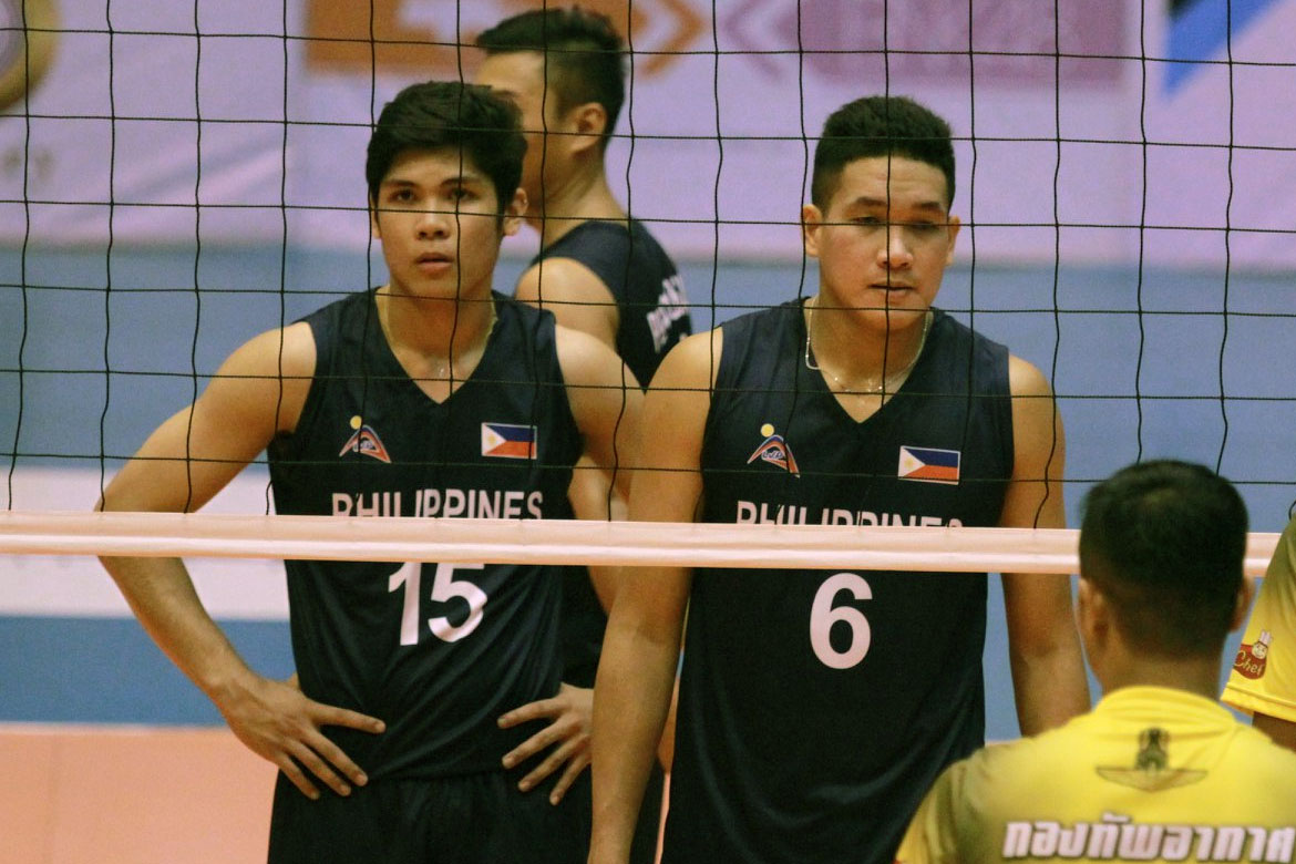 Tiebreaker Times Rebisco-Philippines strong start goes for naught, falls in four sets to Royal Thai News Volleyball  Thailand Air Force Rebisco-Philippines Marck Espejo Kim Malabunga Dante Alinsunurin Bryan Bagunas 2019 Thailand Open Sealect Tuna Championships