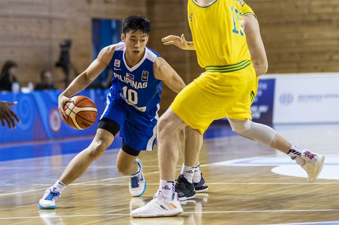 Tiebreaker Times Australia too much once more as Gilas Youth goes further down World Cup Classifications Basketball Gilas Pilipinas News  Sandy Arespacochaga Kai Sotto Gilas Pilipinas Youth Gerry Abadiano Dave Ildefonso Australia (Basketball) 2019 FIBA Under-19 World Cup