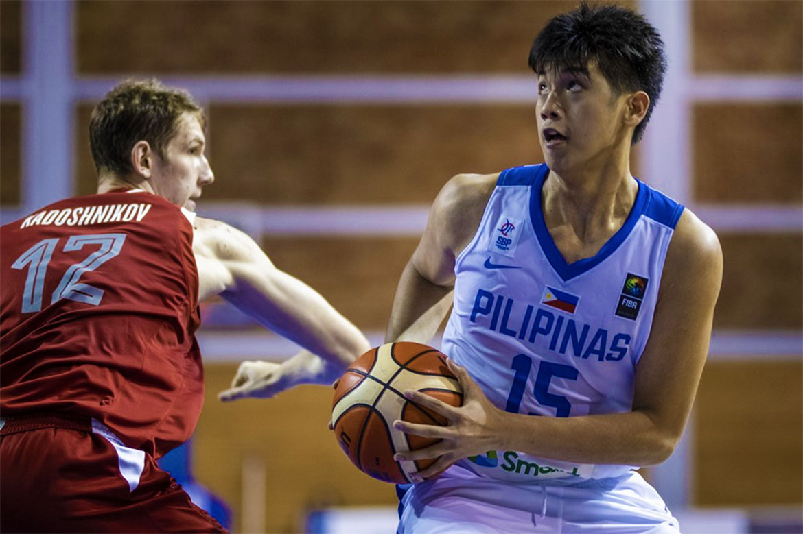 Tiebreaker Times Carl Tamayo breaks out as Gilas Youth vents ire on China Basketball Gilas Pilipinas News  Sandy Arespacochaga Rhayyan Amsali James Spencer Gilas Pilipinas Youth Dave Ildefonso China (Basketball) Carl Tamayo 2019 FIBA Under-19 World Cup