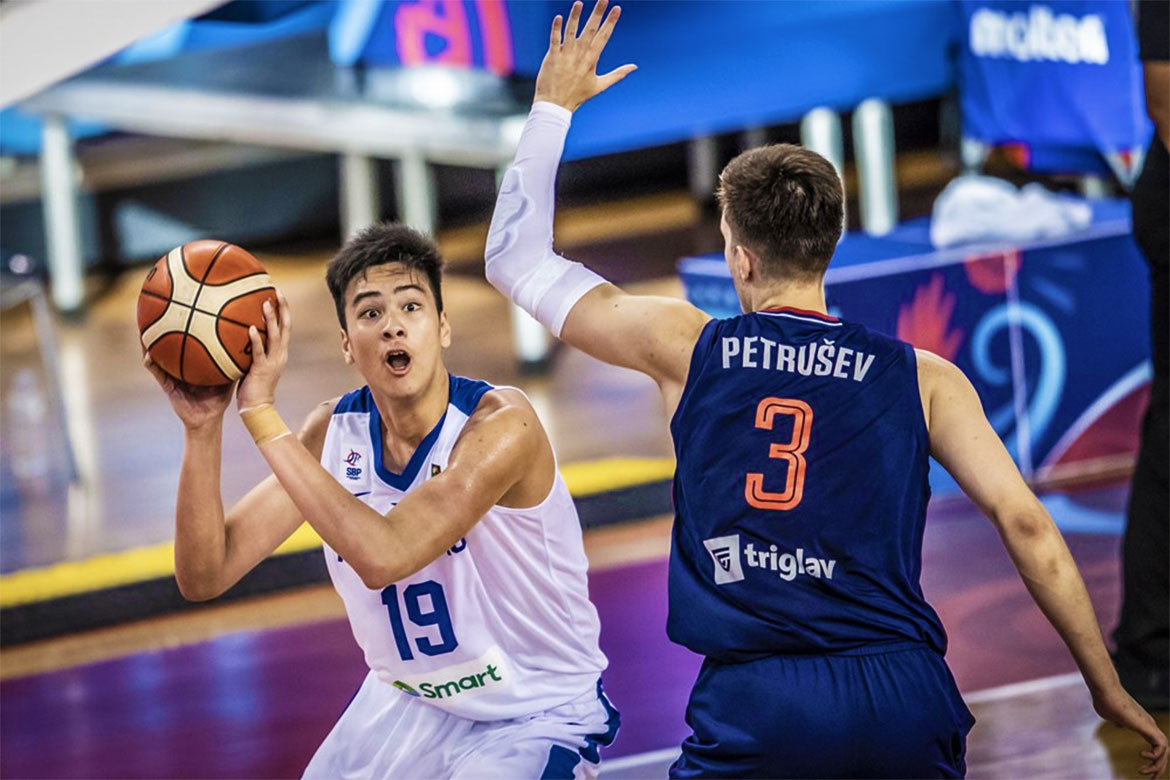 Tiebreaker Times Serbia drops Gilas Youth to classification match versus Australia Basketball Gilas Pilipinas News  Serbia (Basketball) Sandy Arespacochaga Kai Sotto Gilas Pilipinas Youth Gerry Abadiano Dave Ildefonso 2019 FIBA Under-19 World Cup
