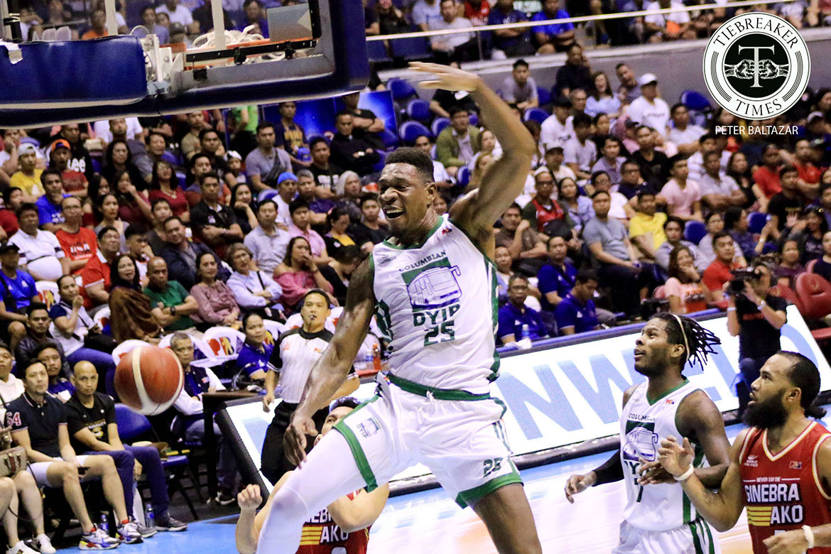 Tiebreaker Times Despite 45-point outing going to waste, Lester Prosper proud to have entertained Basketball News PBA  PBA Season 44 Lester Prosper Johnedel Cardel Columbian Dyip 2019 PBA Commissioners Cup