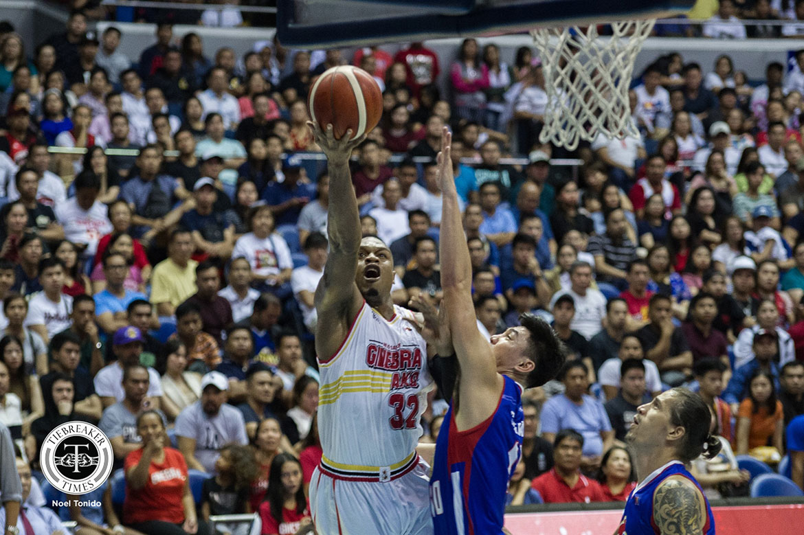 Tiebreaker Times Brownlee erupts for career-high 49 as Ginebra sends Magnolia skidding Basketball News PBA  Tim Cone Stanley Pringle PBA Season 44 Mark Barroca Magnolia Hotshots LA Tenorio Justin Brownlee Japeth Aguilar James Farr Ian Sanglang Chito Victolero Barangay Ginebra San Miguel 2019 PBA Commissioners Cup