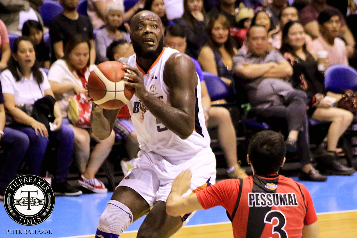 Tiebreaker Times Delroy James' gamble eventually gets Norman Black's seal of approval Basketball News PBA  PBA Season 44 Meralco Bolts Delroy James 2019 PBA Commissioners Cup