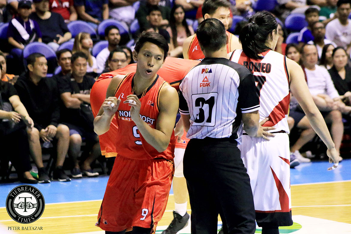 Tiebreaker Times Terrence Romeo, Nico Elorde play down physical play Basketball News PBA  Terrence Romeo San Miguel Beermen PBA Season 44 Northport Batang Pier Nico Elorde 2019 PBA Commissioners Cup