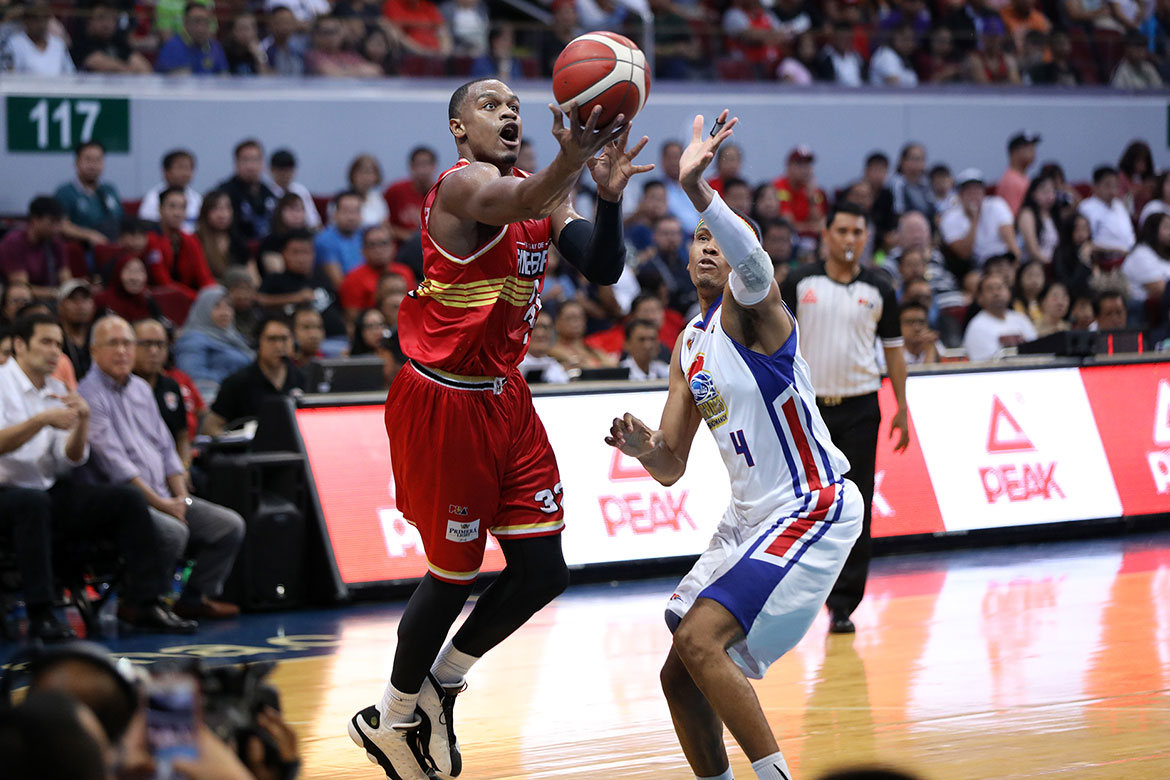Tiebreaker Times Justin Brownlee relieved Ginebra stepped up for him Basketball News PBA  PBA Season 44 Justin Brownlee Barangay Ginebra San Miguel 2019 PBA Commissioners Cup