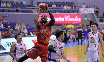 Tiebreaker Times Carl Montgomery receives advice from Bowles before debut: 'Play free' Basketball News PBA  Rain or Shine Elasto Painters PBA Season 44 Denzel Bowles carl montgomery 2019 PBA Commissioners Cup