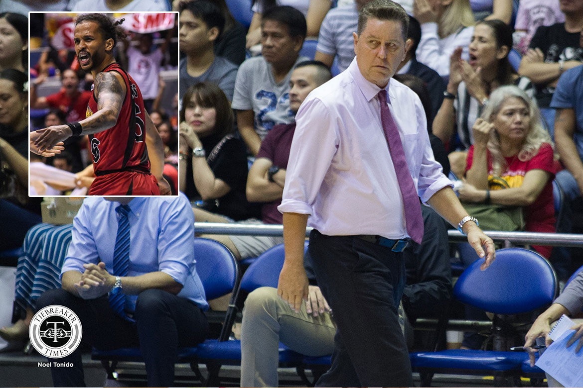 Tiebreaker Times Tim Cone in awe of Chris Ross' evolution to being a superstar: 'Just hard work' Basketball News PBA  Tim Cone San Miguel Beermen PBA Season 44 Chris Ross 2019 PBA Commissioners Cup