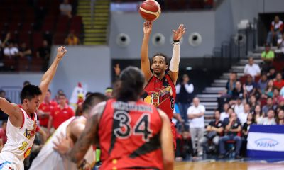 Tiebreaker Times San Miguel rallies from 29 down, beats Rain or Shine by 12 to take Game 2 Basketball News PBA  Terrence Romeo San Miguel Beermen Rey Nambatac Rain or Shine Elasto Painters PBA Season 44 Leo Austria June Mar Fajardo James Yap Ed Daquioag Christian Standhardinger Chris Ross Chris McCullough carl montgomery Caloy Garcia Alex Cabagnot 2019 PBA Commissioners Cup