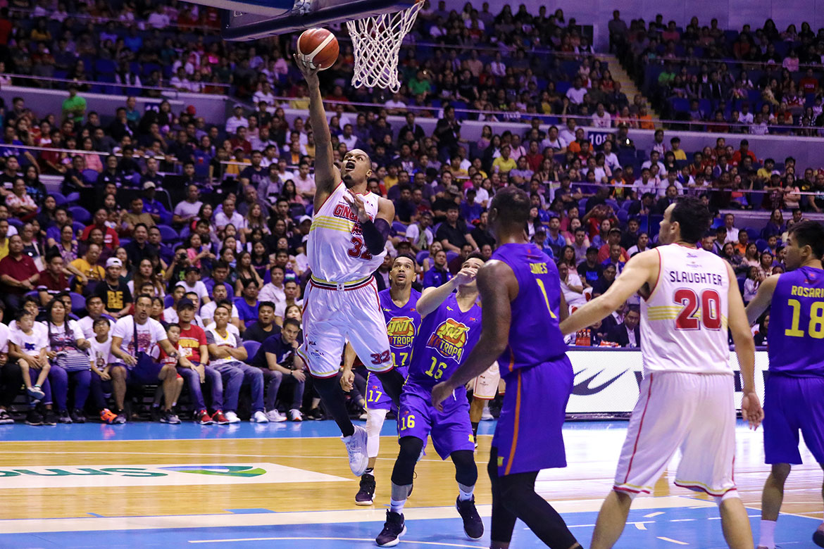 Tiebreaker Times Time now for Ginebra to unleash NSD spirit, says Justin Brownlee Basketball News PBA  PBA Season 44 Justin Brownlee Barangay Ginebra San Miguel 2019 PBA Commissioners Cup