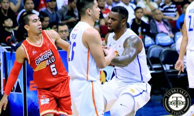 Tiebreaker Times LA Tenorio on staredown with Terrence Jones: 'Paborito niya 'ko eh' Basketball News PBA  Terrence Jones PBA Season 44 LA Tenorio Barangay Ginebra San Miguel 2019 PBA Commissioners Cup