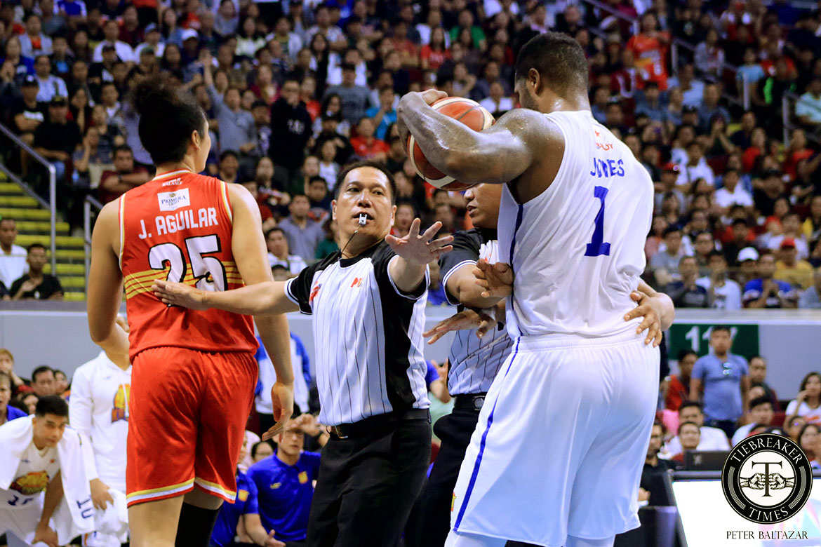 Tiebreaker Times Terrence Jones says staredown with LA Tenorio nothing personal Basketball News PBA  TNT Katropa Terrence Jones PBA Season 44 LA Tenorio 2019 PBA Commissioners Cup