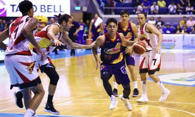Tiebreaker Times Rain or Shine overcomes McCullough's 51, extends semis to Game Four Basketball News PBA  San Miguel Beermen Rey Nambatac Rain or Shine Elasto Painters PBA Season 44 Leo Austria Javee Mocon Gabe Norwood Christian Standhardinger Chris McCullough carl montgomery Caloy Garcia Beau Belga Alex Cabagnot 2019 PBA Commissioners Cup