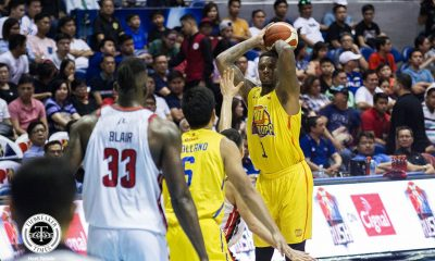 Tiebreaker Times Terrence Jones tallies third triple-double as TNT clinches twice-to-beat Basketball News PBA  Troy Rosario TNT Katropa Terrence Jones Staphon Blair Roger Pogoy PBA Season 44 Mike DiGregorio Jayson Castro Brian Heruela Bobby Ray Parks Jr. Blackwater Elite Aris Dimaunahan Allein Maliksi 2019 PBA Commissioners Cup