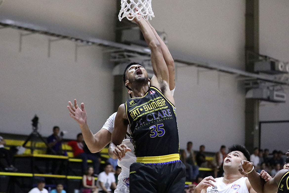 Tiebreaker Times Jhaps Bautista, BRT Sumisip Basilan-St. Clare smother newcomer Alberei Basketball News PBA D-League  Mohammed Pare Marvin Lito Caro Jun Manzo Jhaps Bautista Jason Melano Ivan Villanueva Chris Dumapig BRT Sumisip-St. Clare Saints Alberei Kings 2019 PBA D-League Second Conference