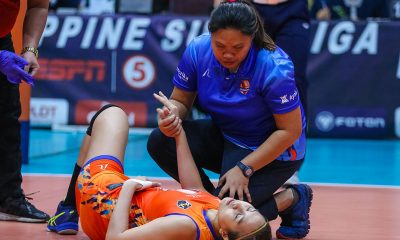 Tiebreaker Times Angeli Araneta hopes injury is nothing serious News PSL Volleyball  Generika Drugstore Lifesavers Angeli Araneta 2019 PSL Season 2019 PSL All Filipino Conference