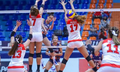 Tiebreaker Times Rondina, Petron crawl back from two sets down, avert Cignal upset News PSL Volleyball  Shaq delos Santos Remy Palma Petron Blaze Spikers Mylene Paat Jovelyn Gonzaga Edgar Barroga Cignal HD Spikers Cherry Rondina Bernadeth Pons 2019 PSL Season 2019 PSL All Filipino Conference