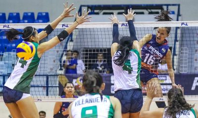 Tiebreaker Times Sisi Rondina powers Petron anew, rips Sta. Lucia for eight straight win News PSL Volleyball  Sta. Lucia Lady Realtors Shaq delos Santos Rachel Austero Petron Blaze Spikers Cherry Rondina Babes Castillo Amanda Villanueva 2019 PSL Season 2019 PSL All Filipino Conference