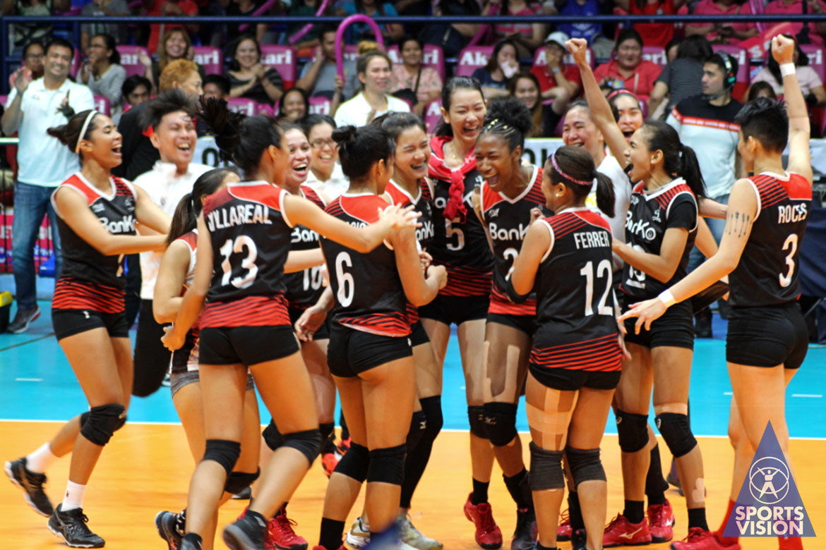Tiebreaker Times Nicole Tiamzon proves clutch as Banko Perlas outlasts Army in third place Game 1 News PVL Volleyball  Sue Roces Royse Tubino Perlas Lady Spikers Patricia Torres Pacific Town-Army Lady Troopers Olena Lymareva-Flink Nicole Tiamzon jovelun gonzaga Jenelle Jordan Ging Balse-Pabayo Dzi Gervacio Chuewulim Sutadta Apichat Kongsaiwat 2019 PVL Season 2019 PVL Reinforced Conference