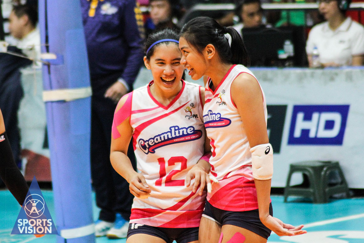 Tiebreaker Times Valdez, Morado hope to build bond with PWNVT before returning to Creamline 2019 SEA Games News PVL Volleyball  Jia Morado Creamline Cool Smashers Alyssa Valdez 2019 SEA Games - Volleyball 2019 SEA Games 2019 PVL Season 2019 PVL Open Conference