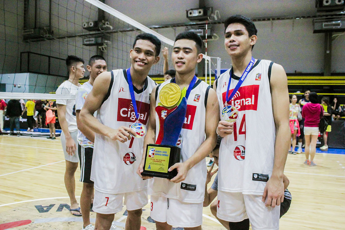 Tiebreaker Times Jude Garcia, JP Bugaoan savor first crown as it came at expense of ex-Bulldogs News Spikers' Turf Volleyball  Jude Garcia JP Bugaoan Cignal HD Spikers 2019 Spikers Turf Season 2019 Spikers Turf Reinforced Conference