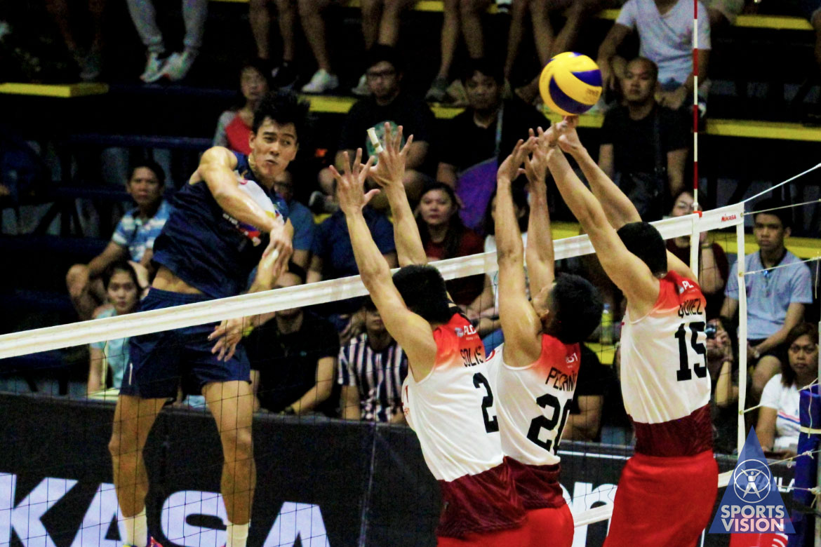 Tiebreaker Times Bryan Bagunas rues Air Force's errors against PLDT: 'Lagpas isang set binigay namin' News Spikers' Turf Volleyball  Philippine Air Force Jet Spikers Bryan Bagunas 2019 Spikers Turf Season 2019 Spikers Turf Reinforced Conference
