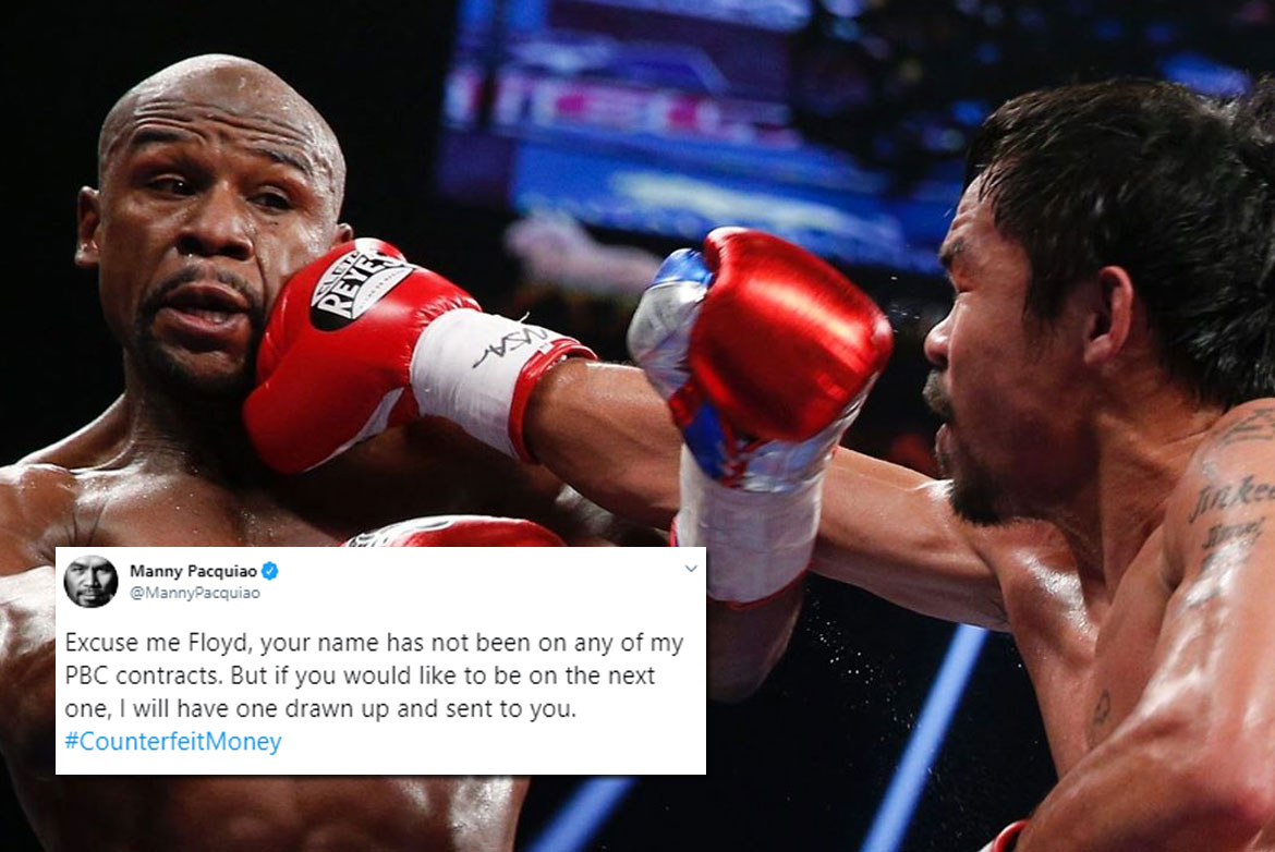 Tiebreaker Times Manny Pacquiao, Floyd Mayweather go on soc med war Boxing News  Manny Pacquiao Floyd Mayweather
