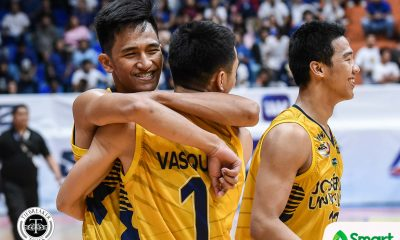 Tiebreaker Times First win an answered prayer for Agem Miranda, Louie Gonzalez Basketball JRU NCAA News  NCAA Season 95 Seniors Basketball NCAA Season 95 Louie Gonzalez JRU Seniors Basketball Agem Miranda