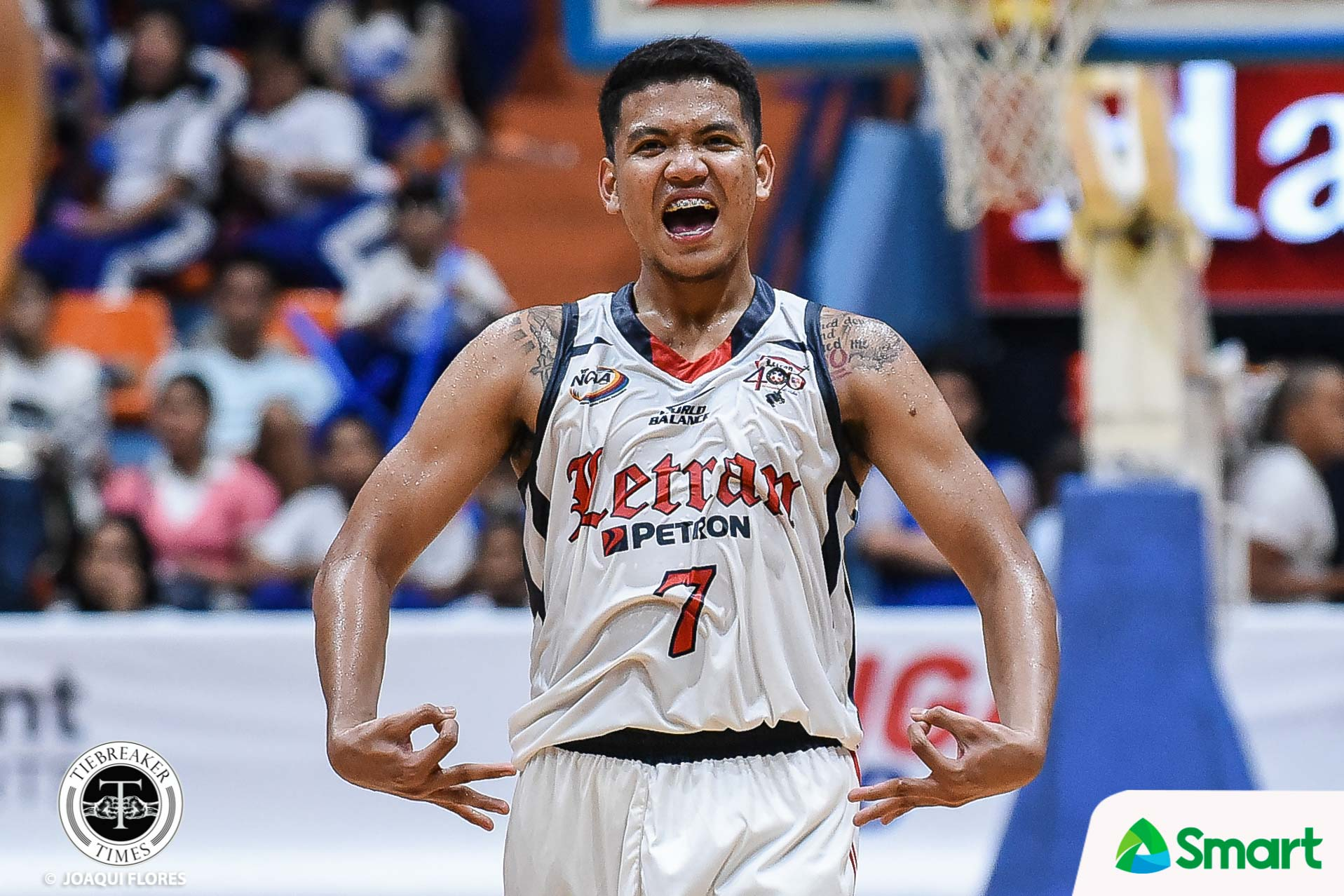 Tiebreaker Times Jerrick Balanza notches career-high, single-handedly lifts Letran past Arellano AU Basketball CSJL NCAA News  Rence Alcoriza NCAA Season 95 Seniors Basketball NCAA Season 95 Letran Seniors Basketball Justin Arana Jerrick Balanza Jeo Ambohot Cholo Martin Arellano Seniors Basketball Alfren Gayosa