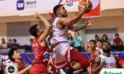 Tiebreaker Times Canlas, Nelle lead San Beda to 21st straight win against EAC Basketball EAC NCAA News SBC  San Beda Seniors Basketball Oliver Bunyi NCAA Season 95 Seniors Basketball NCAA Season 95 Marwin Taywan Kriss Gurtiza JP Maguliano James Canlas Evan Nelle EAC Seniors Basketball Calvin Oftana Boyet Fernandez