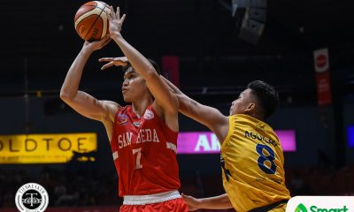 Tiebreaker Times Calvin Oftana looks to continue what Javee Mocon left in San Beda Basketball NCAA News SBC  San Beda Seniors Basketball Robert Bolick NCAA Season 95 Seniors Basketball NCAA Season 95 Javee Mocon Calvin Oftana Boyet Fernandez
