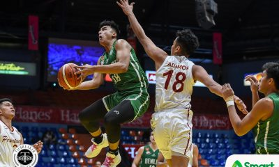 Tiebreaker Times Saint Benilde fends off foul-plagued Perpetual for second win Basketball CSB NCAA News UPHSD  TY Tang Perpetual Seniors Basketball NCAA Season 95 Seniors Basketball NCAA Season 95 Kim Aurin Kendrix Belgica Justin Gutang Jielo Razon Frankie Lim Clement Leutcheu Carlo Young Benilde Seniors Basketball