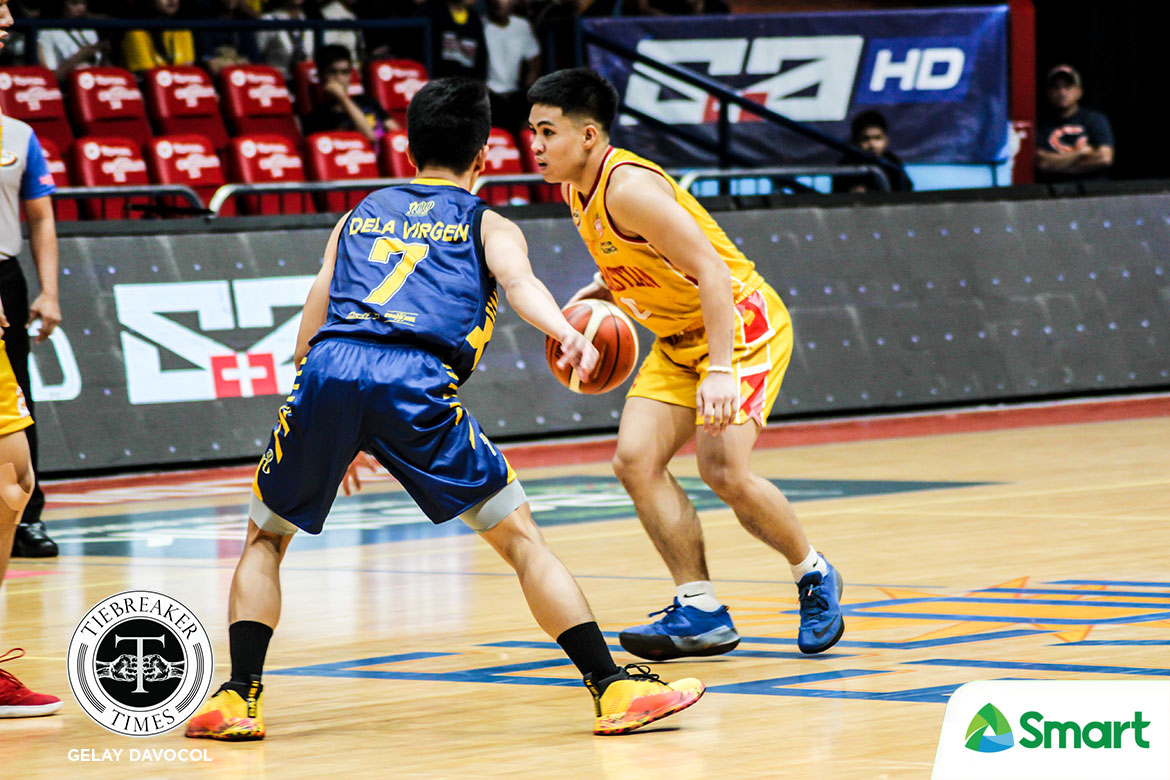 Tiebreaker Times RK Ilagan torches JRU as Baste gives Louie Gonzalez 31-point beatdown in debut Basketball JRU NCAA News SSC-R  San Sebastian Seniors Basketball RK Ilagan NCAA Season 95 Seniors Basketball NCAA Season 95 Louie Gonzalez JRU Seniors Basketball Egay Macaraya Alvin Capobres Allyn Bulanadi