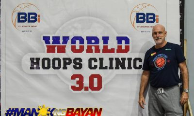 Tiebreaker Times Tab Baldwin continues to teach European basketball with World Hoops Clinic Basketball News  World Hoops Clinic Topex Robinson Tab Baldwin Ewon Arayi Anton Altamirano