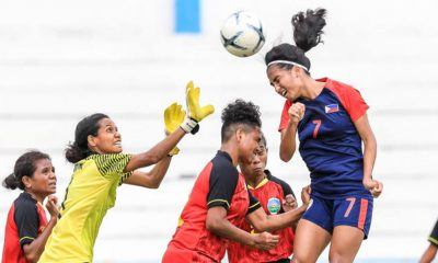 Tiebreaker Times Rodriguez picks up another brace as Philippines nears historic AFF semis berth Football News Philippine Malditas  Sara Castaneda Quinley Quezada Philippine Women's National Football Team Let Dimzon Inna Palacios Hali Long Charisa Lemoran Camille Rodriguez 2019 AFF Women's Championship