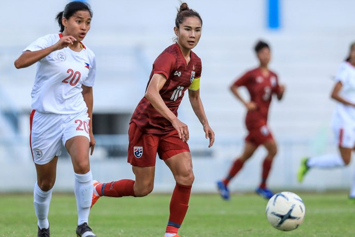 Tiebreaker Times Quezada, PWNFT put up gallant stand but Thailand proves too much Football News Philippine Malditas  Thailand (Football) Quinley Quezada Philippine Women's National Football Team Let Dimzon Inna Palacios 2019 AFF Women's Championship
