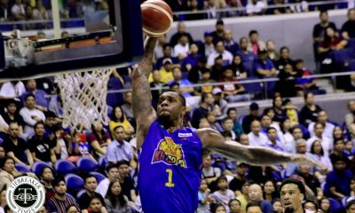 Tiebreaker Times Terrence Jones dominates as TNT draws first blood against San Miguel Basketball News PBA  Troy Rosario TNT Katropa Terrence Jones San Miguel Beermen Roger Pogoy PBA Season 44 Leo Austria June Mar Fajardo Jayson Castro Don Trollano Chris McCullough Bong Ravena 2019 PBA Commissioners Cup