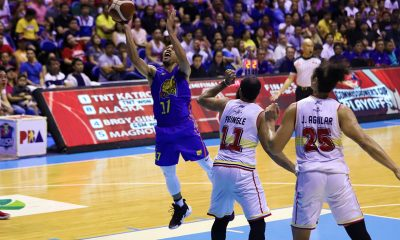 Tiebreaker Times Jayson Castro steers TNT to Finals, dethrones Ginebra Basketball News PBA  Troy Rosario TNT Katropa Tim Cone Terrence Jones Stanley Pringle Roger Pogoy PBA Season 44 Justin Brownlee Joe Devance Jayson Castro Japeth Aguilar Bong Ravena Barangay Ginebra San Miguel 2019 PBA Commissioners Cup