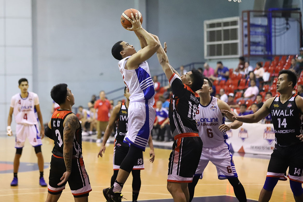 Tiebreaker Times Aaron Black tallies second triple-double as AMA spoils Jonas Villanueva's coaching debut Basketball News PBA D-League  Vince Tolentino Ryusei Koga Mark Harrera Jonas Villanueva iWalk Chargers Dennis Santos Bernie Bregondo AMA Online Education Titans Aaron Black 2019 PBA D-League Second Conference