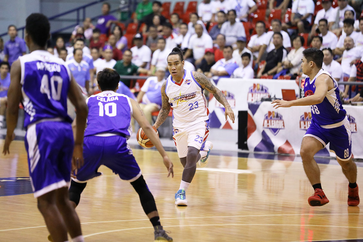 Tiebreaker Times Eloy Poligrates thrills anew as Marinerong Pilipino debrows Asia's Lashes TM Basketball News PBA D-League  Yong Garcia Marinerong Pilipino JBoy Solis James Martinez Eloy Poligrates Asia's Lashes Tomas Morato Soldiers Alvin Grey 2019 PBA D-League Second Conference