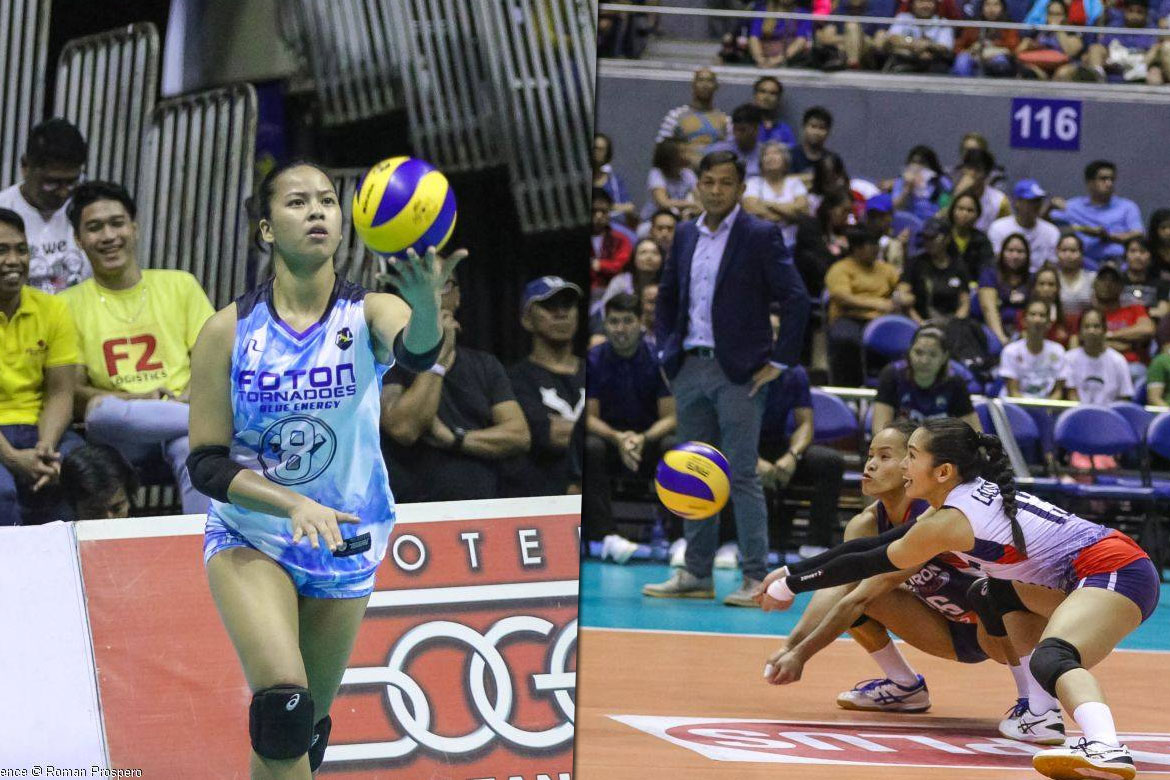 Tiebreaker Times 'Weird' feeling for Eya Laure as she faced Cherry Rondina News PSL Volleyball  Foton Tornadoes Eya Laure Cherry Rondina 2019 PSL Season 2019 PSL All Filipino Conference