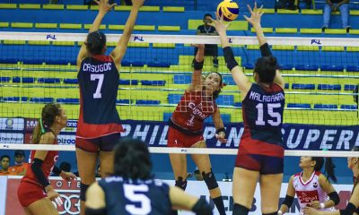 Tiebreaker Times Cignal puts on block party, outlasts sister team PLDT to bag seventh win News PSL Volleyball  Roger Gorayeb Ranya Musa PLDT Home Fibr Power Hitters Jheck Dionela Jerrili Malabanan Janine Navarro Grethcel Soltones Edgar Barroga Cignal HD Spikers Alohi Robins-Hardy Aiko Urdas 2019 PSL Season 2019 PSL All Filipino Conference