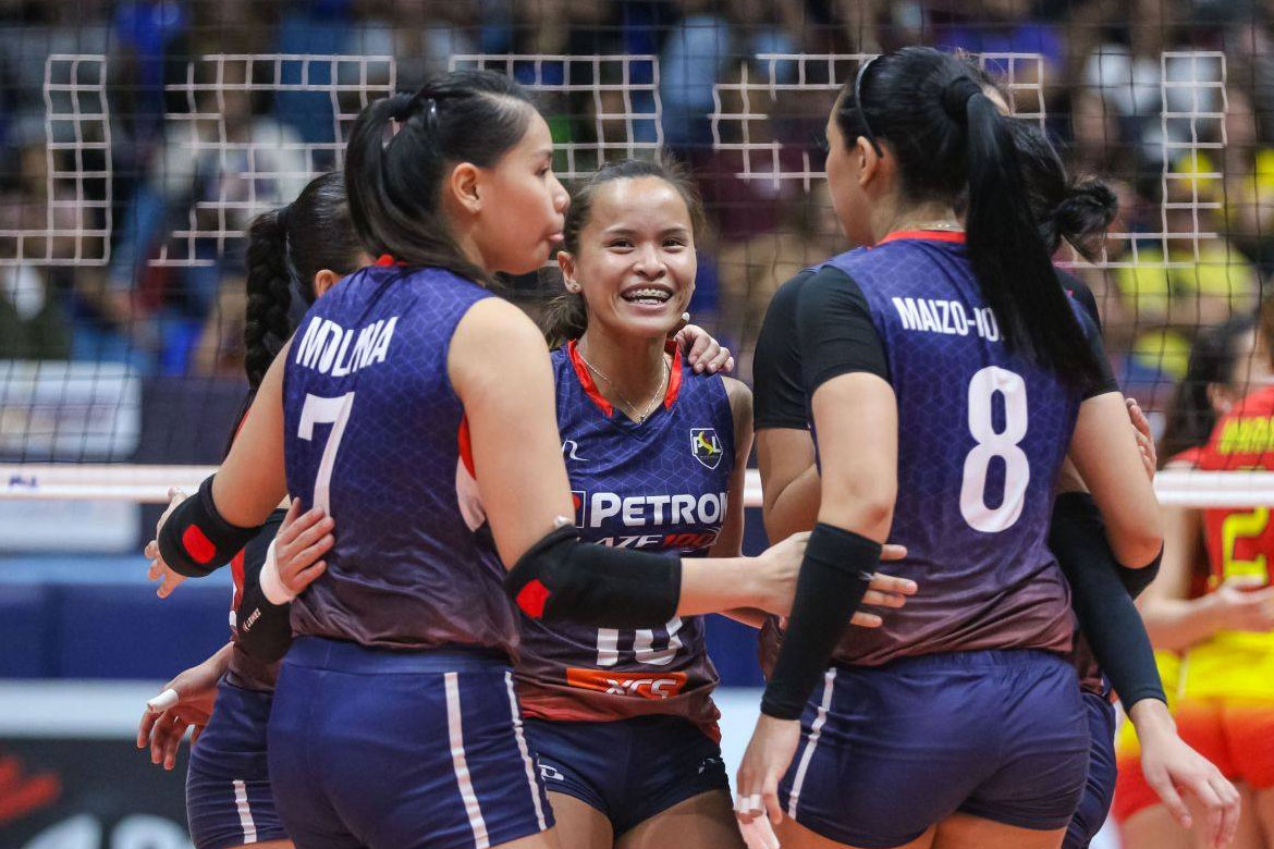 Tiebreaker Times Shaq Delos Santos continues to be in awe of 'spark plug' Sisi Rondina News PSL Volleyball  Shaq delos Santos Petron Blaze Spikers Cherry Rondina 2019 PSL Season 2019 PSL All Filipino Conference