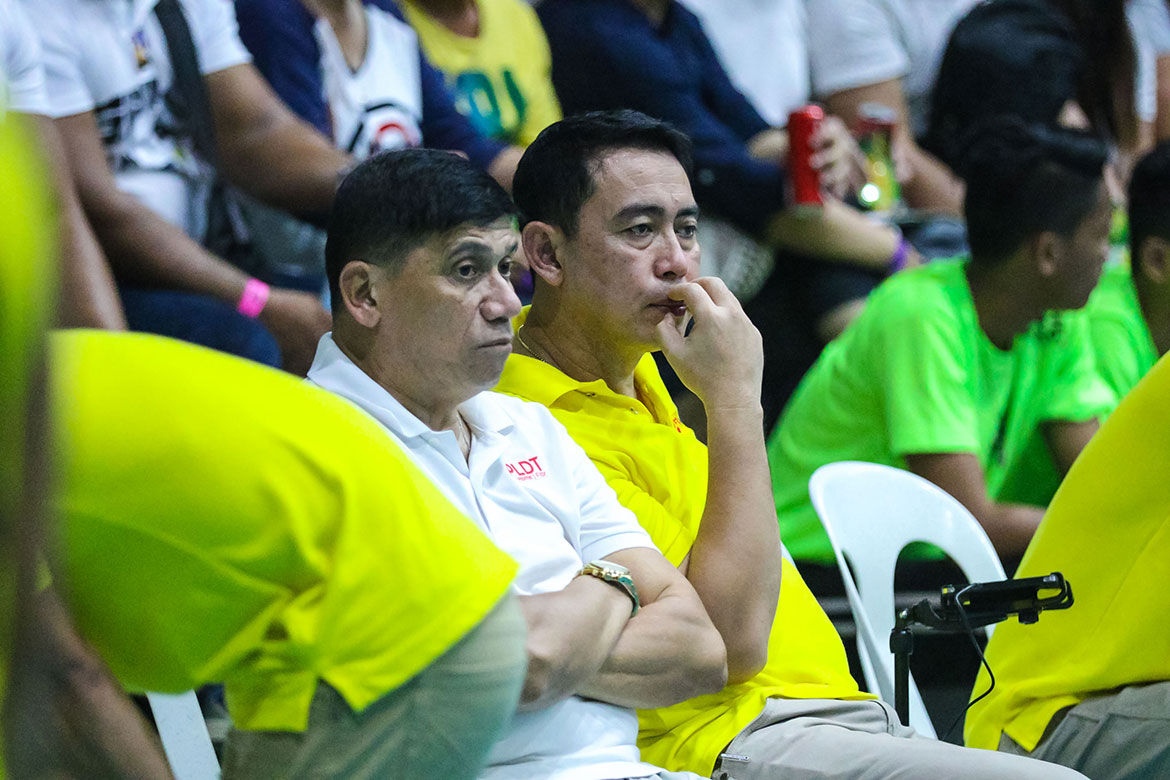 Tiebreaker Times Roger Gorayeb gets to reminisce past with Ramil De Jesus News PSL Volleyball  Roger Gorayeb Ramil De Jesus PLDT Home Fibr Power Hitters F2 Logistics Cargo Movers 2019 PSL Season 2019 PSL All Filipino Conference