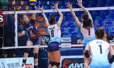 Tiebreaker Times Petron cruises to 12th straight win, sends Marinerang Pilipina packing News PSL Volleyball  Shaq delos Santos Ron Dulay Rhea Dimaculangan Petron Blaze Spikers Marinerang Pilipina Judith Abil Ces Molina Bernadeth Pons Aiza Maizo-Pontillas 2019 PSL Season 2019 PSL All Filipino Conference