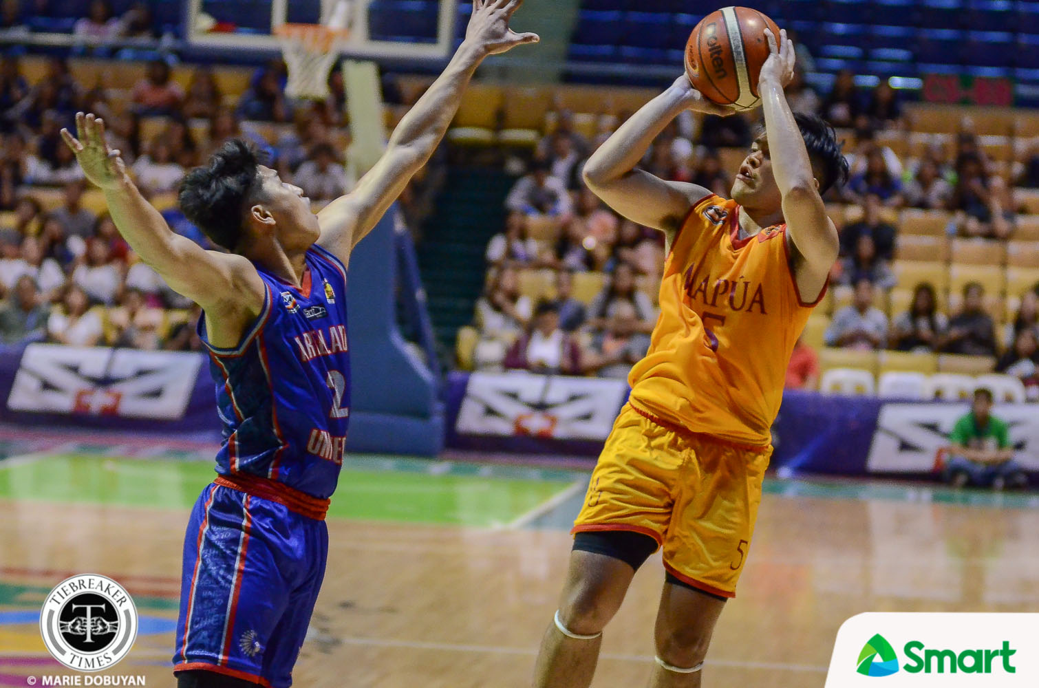 Tiebreaker Times Laurenz Victoria pours career-high against Arellano, lifts Mapua to first win AU Basketball MIT NCAA News  Rence Alcoriza Randy Alcantara Paolo Hernandez NCAA Season 95 Seniors Basketball NCAA Season 95 Mapua Seniors Basketball Laurenz Victoria Kent Salado Dariel Bayla Cholo Martin Arellano Seniors Basketball Archie Concepcion