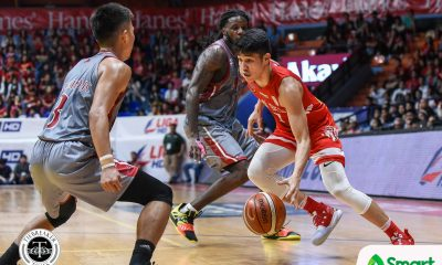 Tiebreaker Times San Beda runs roughshod on Lyceum for seventh win Basketball LPU NCAA News SBC  Topex Robinson San Beda Seniors Basketball NCAA Season 95 Seniors Basketball NCAA Season 95 Mike Nzeusseu Lyceum Seniors Basketball Jaycee Marcelino Evan Nelle Donald Tankoua Calvin Oftana Boyet Fernandez