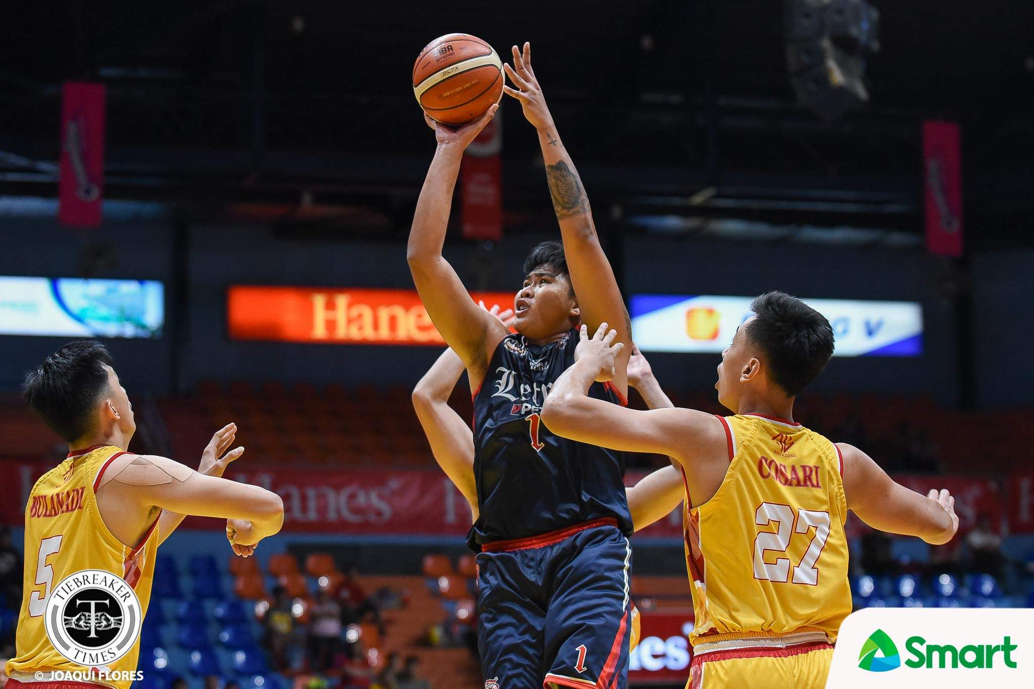 Tiebreaker Times Larry Muyang makes sure to bounce back: 'Kaso minalas' Basketball CSJL NCAA News  NCAA Season 95 Seniors Basketball NCAA Season 95 Letran Seniors Basketball Larry Muyang