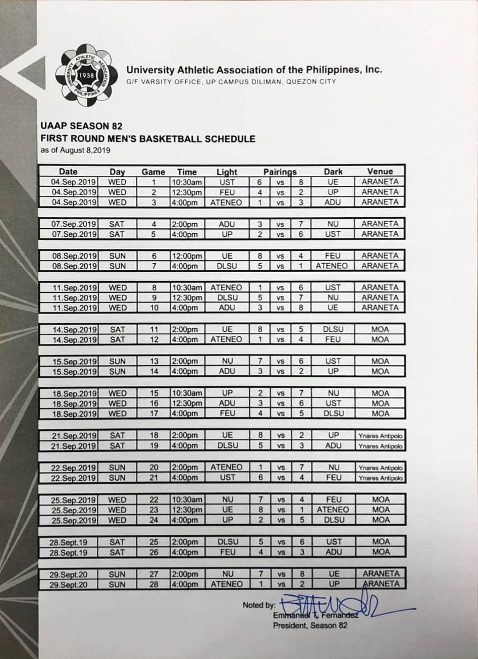 Tiebreaker Times UAAP Season 82 Seniors Basketball to feature Wednesday triple-headers ADMU AdU Basketball DLSU FEU News NU UAAP UE UP UST  UAAP Season 82 Women's Basketball UAAP Season 82 Men's Basketball UAAP Season 82