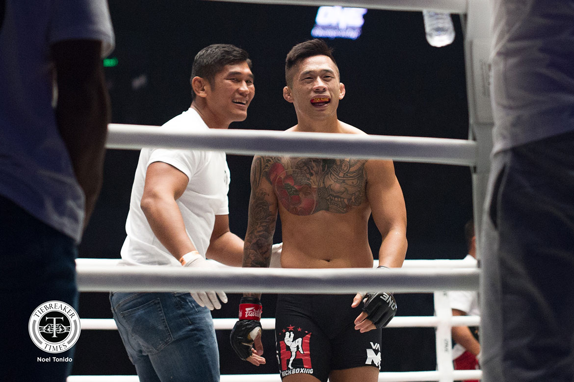 Tiebreaker Times Martin Nguyen remains as Featherweight king; Rodtang Jitmuangnon dethrones Haggerty Mixed Martial Arts Muay Thai News ONE Championship  Rodtang Jitmuangnon ONE: Dawn of Heroes Martin Nguyen Koyomi Matsushima Jonathan Haggerty
